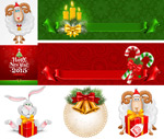 Christmas cartoon theme vector