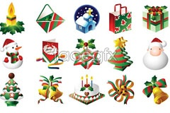 Link toChristmas classic utility icon set vector