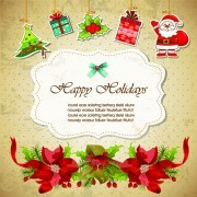 Link toChristmas cute greeting cards design vector 01