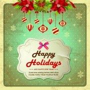 Link toChristmas cute greeting cards design vector 03