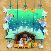 Link toChristmas cute greeting cards design vector 04