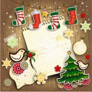 Link toChristmas cute greeting cards design vector 06