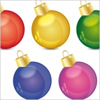 Link toChristmas decoration ball vector