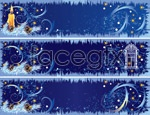 Link toChristmas decoration banne vector