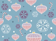 Link toChristmas decoration pattern vector free