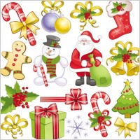 Link toChristmas decorations 2 vector