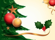 Link toChristmas decorations background vector free