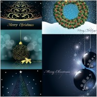 Link toChristmas decorative elements vector