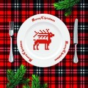 Link toChristmas dining table background 02 vector