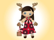 Link toChristmas doll vector free