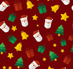 Link toChristmas elements of seamless background vector