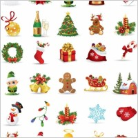 Link toChristmas elements vector collection