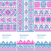 Link toChristmas ethnic pattern banner vector 03 free