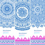 Link toChristmas ethnic pattern banner vector 04 free