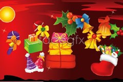 Link toChristmas festive elements vector