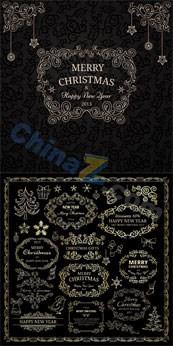 Link toChristmas floral design vector