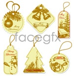 Link toChristmas hang tag label vector