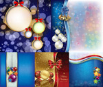 Christmas hanging ball background vector