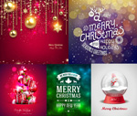 Link toChristmas hanging ball texture vector