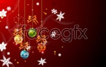 Link toChristmas hanging ball vector 2