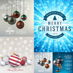 Link toChristmas hanging ball with snowflakes vector