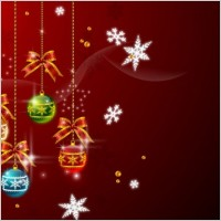 Link toChristmas hanging balls vector 2