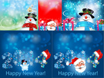 Link toChristmas happy new year vector