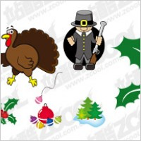 Link toChristmas icon with the vector illustration material