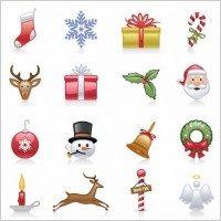 Link toChristmas icons vector set