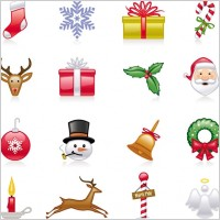 Link toChristmas icons vector