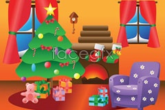 Link toChristmas indoor decoration vector