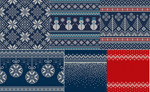 Link toChristmas knitted backgrounds vector