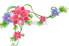 Link toChristmas lace leaves ai vector