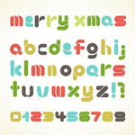 Link toChristmas letters and numbers vector