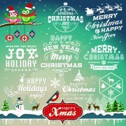 Link toChristmas logos and decorations vector