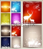 Link toChristmas moose card vector
