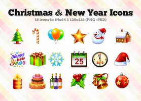 Link toChristmas + new year icons