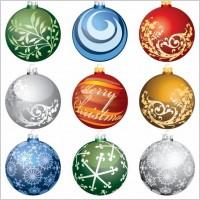 Link toChristmas ornament balls vector set