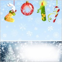 Link toChristmas ornaments and background vector