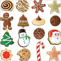 Link toChristmas ornaments biscuits vector