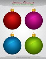 Link toChristmas ornaments (free psd)
