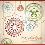 Link toChristmas ornaments patterns vector