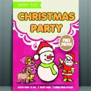 Link toChristmas party flyer vector template 05