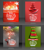 Link toChristmas party flyer vector