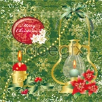 Link toChristmas pattern candle vector