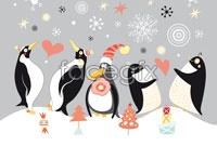Link toChristmas penguins cartoon vector illustration