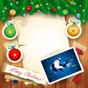 Link toChristmas photo frame background vector 01