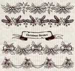 Link toChristmas plants decorative lace vector