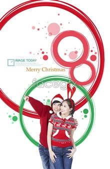 Link toChristmas poster couple figures psd