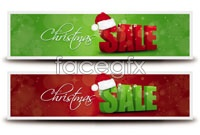 Link toChristmas promotional banner vector